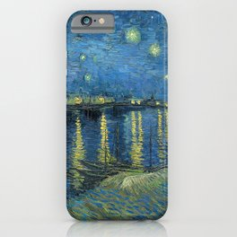 Starry night over the Rhône iPhone Case