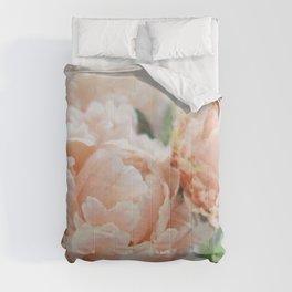 Peach Peonies Comforters