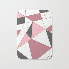 Abstraction . 4 geometric pattern Bath Mat