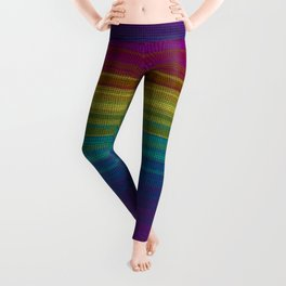 Woven Rainbow 03 Leggings