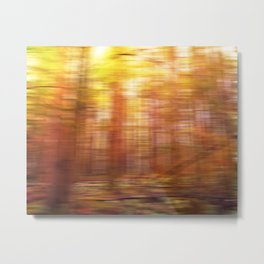 October Forest, Abstract Photography Metal Print