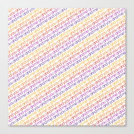 You and Me Rainbow Canvas Print