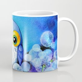 Lunar Owl in Dandelion Field Coffee Mug