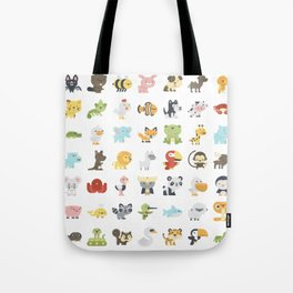 CUTE BABY ANIMAL PATTERN Tote Bag
