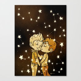 Love Golden Canvas Print