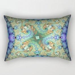 Never ending patterns with spirals and orbs Rectangular Pillow