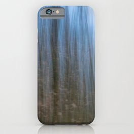Abstract forest, intentional camera movement iPhone Case