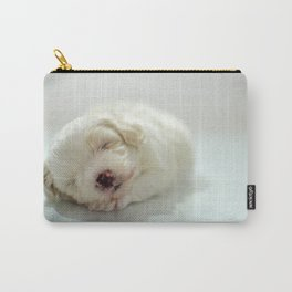 Maltese Puppy Sleeping Carry-All Pouch