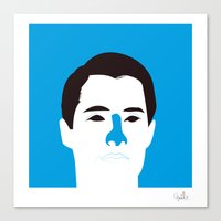 dale cooper Canvas Prints featuring Agent Dale Cooper by quibe