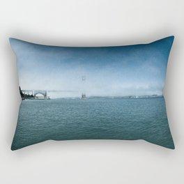 Golden Gate Bridge + Fog Rectangular Pillow