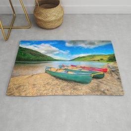 Geirionydd Lake Canoes Rug