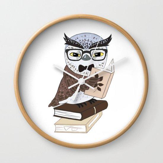 Professor Owl Wall Clock