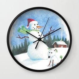 Snowman, Snowdog Wall Clock