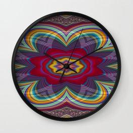 Uppermost Consumerism Mandala 2 Wall Clock