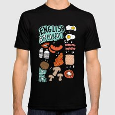 English Breakfast LARGE Black Mens Fitted Tee