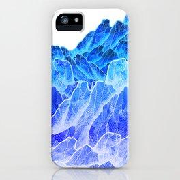 The cold mountain sea iPhone Case