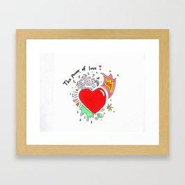 Power of love Framed Art Print