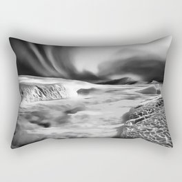 aurora borealis acrylic reacbw Rectangular Pillow