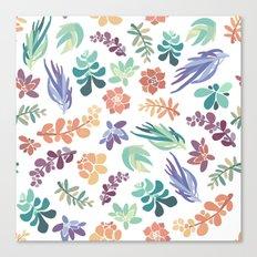 summertime succulents Canvas Print