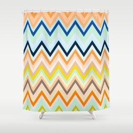 Colorful chevron Shower Curtain