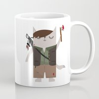 daryl dixon Mugs featuring Daryl Dixon the Cat by The Cat