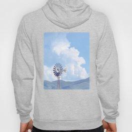 """Blue Windmill Blue Sky"" by Murray Bolesta Hoody"