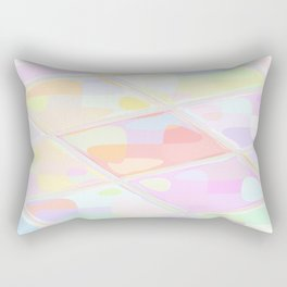 Re-Created Mirrored SQ LXXV by Robert S. Lee Rectangular Pillow
