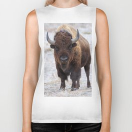 In The Presence Of Bison #society6 #decor #bison by Lena Owens @OLena Art Biker Tank