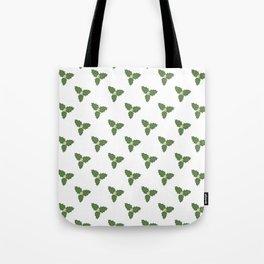 Misletoe - green and beige Tote Bag