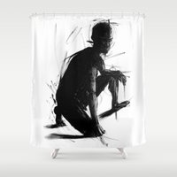 knight Shower Curtains featuring Knight by t-edition