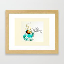 X is for eXtra strong Framed Art Print