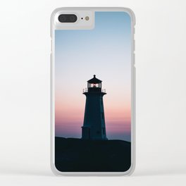Goodnight Bright Light Clear iPhone Case