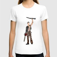 evil dead T-shirts featuring The Evil Dead - Bruce Campbell by A Deniz Akerman