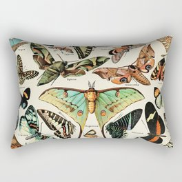 Papillon I Vintage French Butterfly Charts by Adolphe Millot Rectangular Pillow