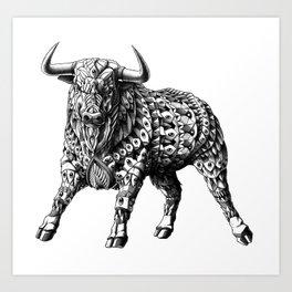 Raging Bull Art Print
