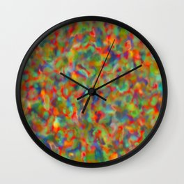 Inverted Wave Digital Abstract Print Wall Clock