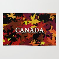 canada Area & Throw Rugs featuring Canada by megghan18
