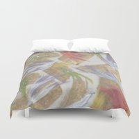 easter Duvet Covers featuring Easter by Kat Dermane