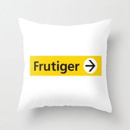 Frutiger arrow   W&L007 Throw Pillow
