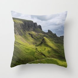 Mesmerized by the Quiraing Throw Pillow