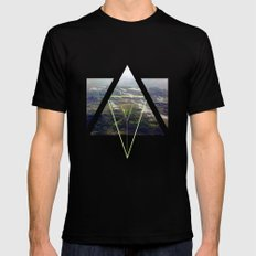 up that hill. MEDIUM Mens Fitted Tee Black