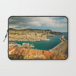 Picture France Nice Bay Pier Coast Houses Cities Berth Marinas Building Laptop Sleeve