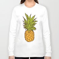 pineapples Long Sleeve T-shirts featuring Pineapples by Stephanie Keir