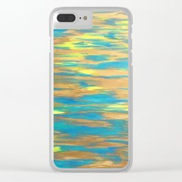 Gold and Water Clear iPhone Case
