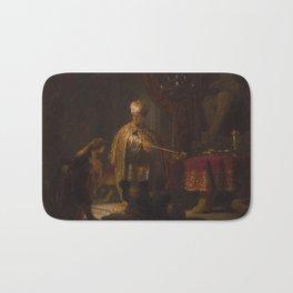 Rembrandt - Daniel and Cyrus before the Idol Bel (1633) Bath Mat