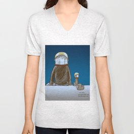 The universe, time and a squirrel Unisex V-Neck