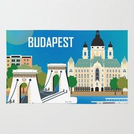 Budapest, Hungary - Skyline Illustration by Loose Petals Rug