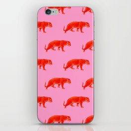 Vintage Cheetahs in Coral + Red iPhone Skin