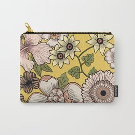 70s Retro Floral Illustration  Carry-All Pouch