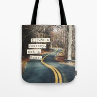 journey Tote Bags featuring Journey by Brandy Coleman Ford